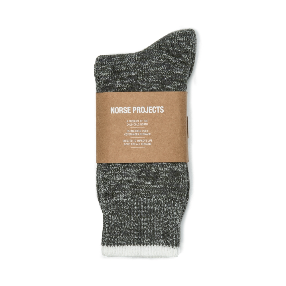 Norse Projects Bjarki Blend Socks (Charcoal)