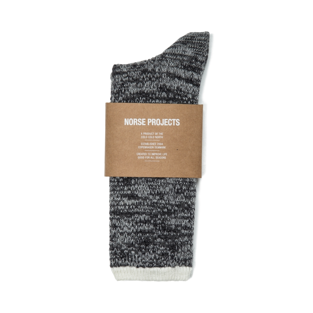 Norse Projects Bjarki Blend Socks (Mouse Grey)