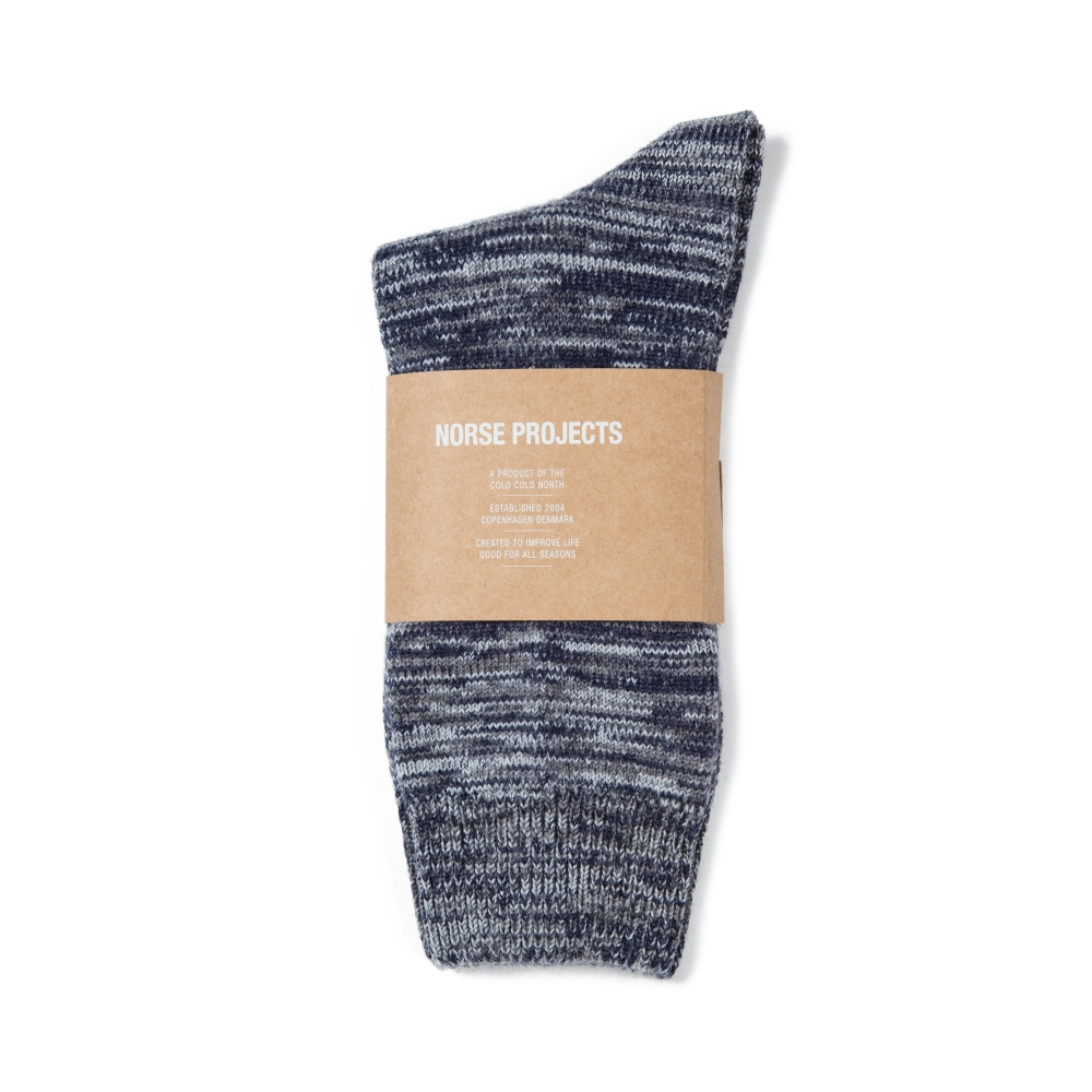 Norse Projects Bjarki Blend Socks (Navy)
