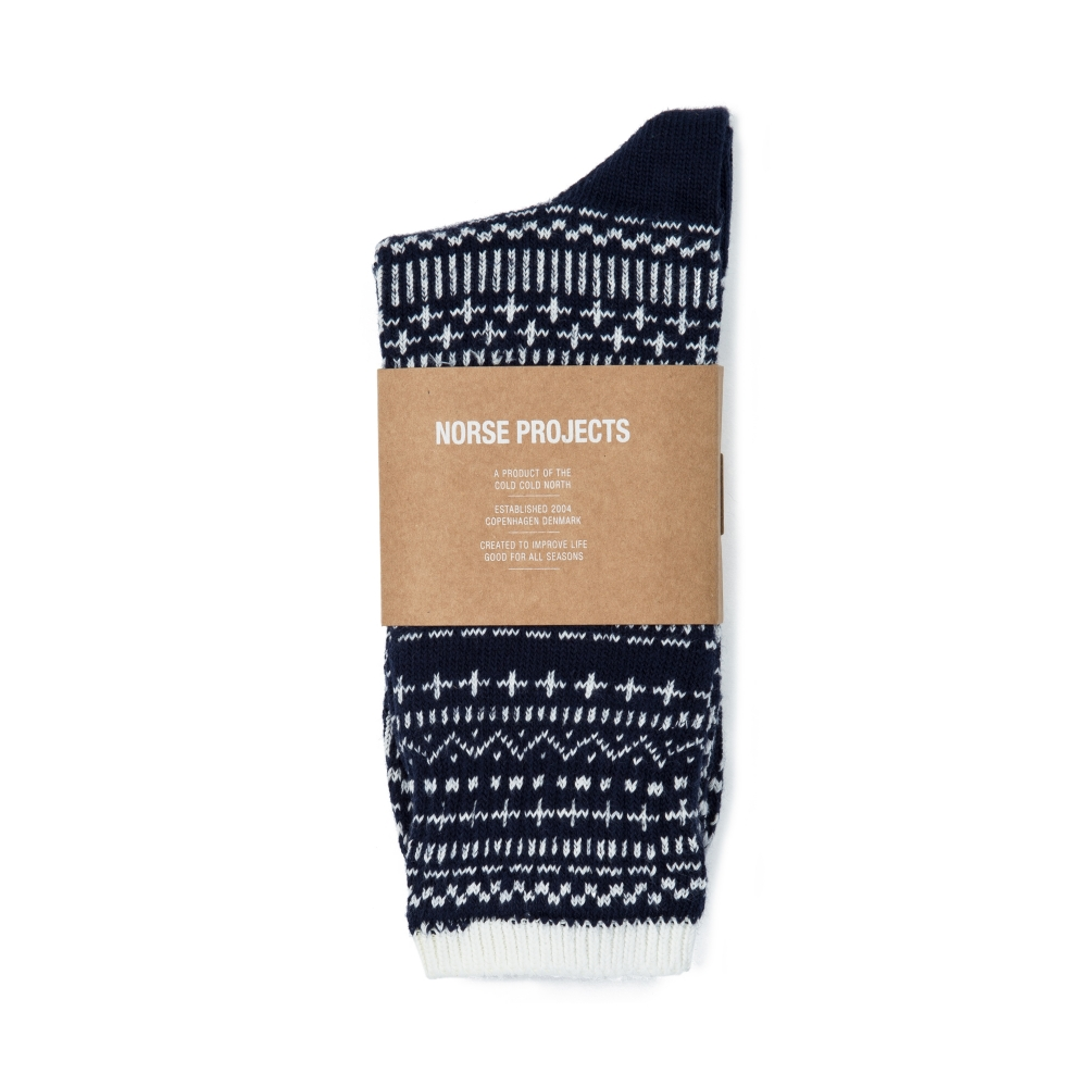Norse Projects Bjarki Winter Socks (Navy)