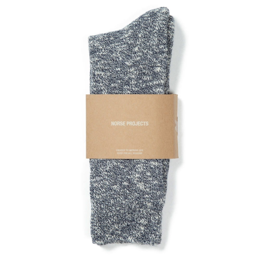 Norse Projects Ebbe Melange Socks (Dark Navy)