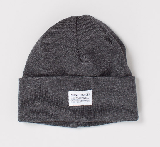 c437108cfb83d Norse Projects Merino Top Beanie (Charcoal Melange) - Consortium.