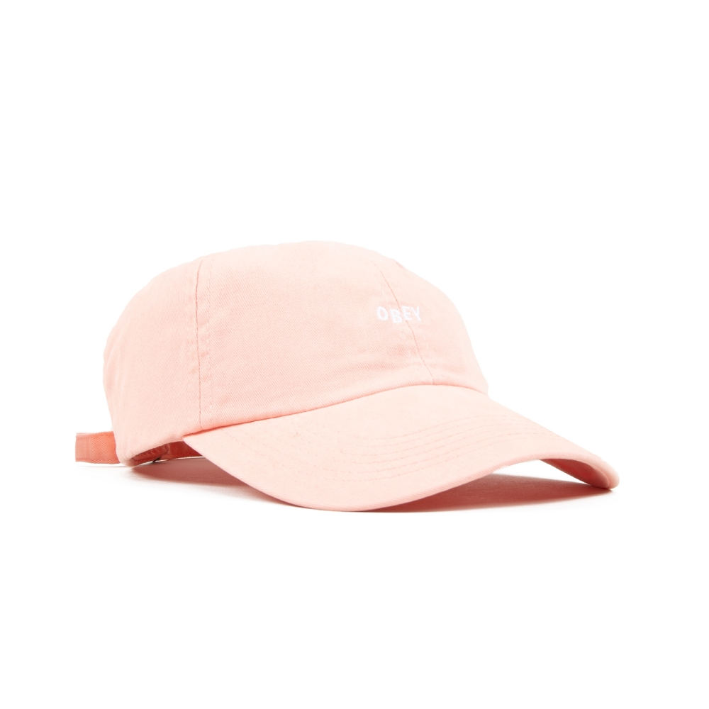 Obey Jumble Bar II 6 Panel Cap (Rose)