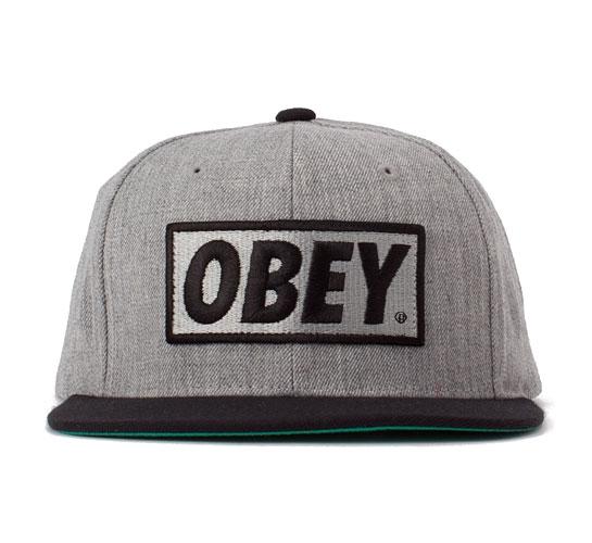 Obey Original snapback cap (Heather Grey Black) - Consortium. 9104ae6f5cb