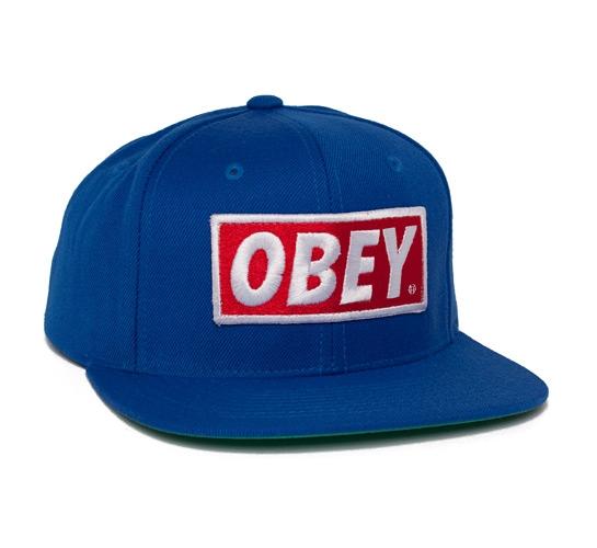 Obey Original Snapback Cap (Blue)
