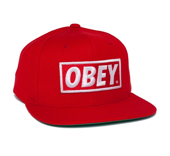 Obey Original Snapback Cap (Red)
