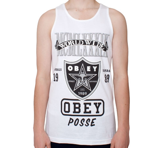 Obey Super Brawl Tank (White)