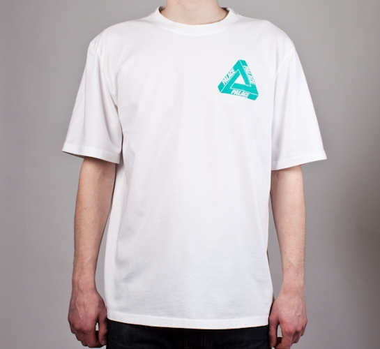 Palace Tri-Ferg Iced Out T-Shirt (White)