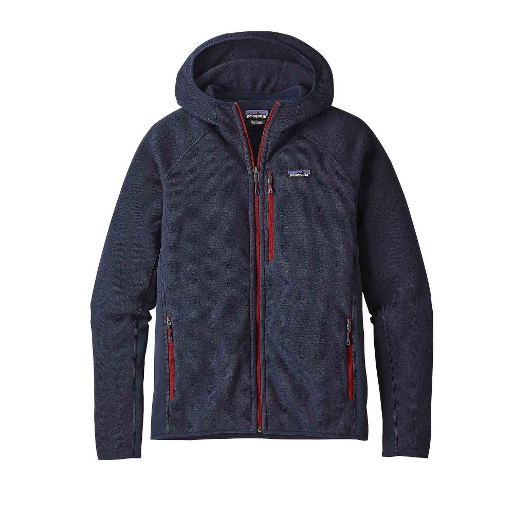 Patagonia Performance Better Sweater Fleece Full-Zip Hooded Sweatshirt (Navy Blue)
