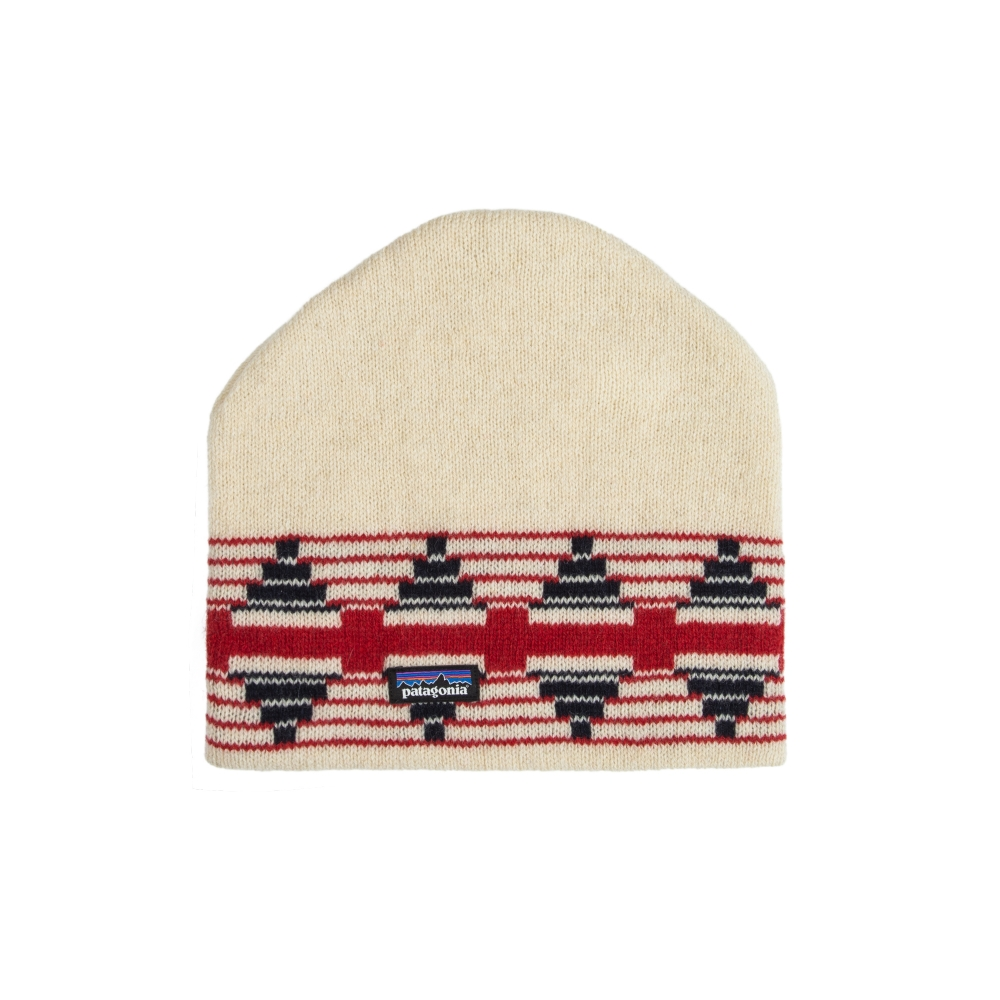 Patagonia Backslide Beanie (Pueblo Stripe: Toasted White)