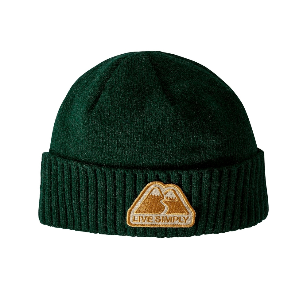 Patagonia Brodeo Beanie (Live Simply Winding: Micro Green)
