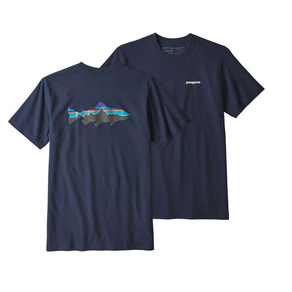 Patagonia Fitz Roy Trout Responsibili-Tee T-Shirt (Classic Navy)