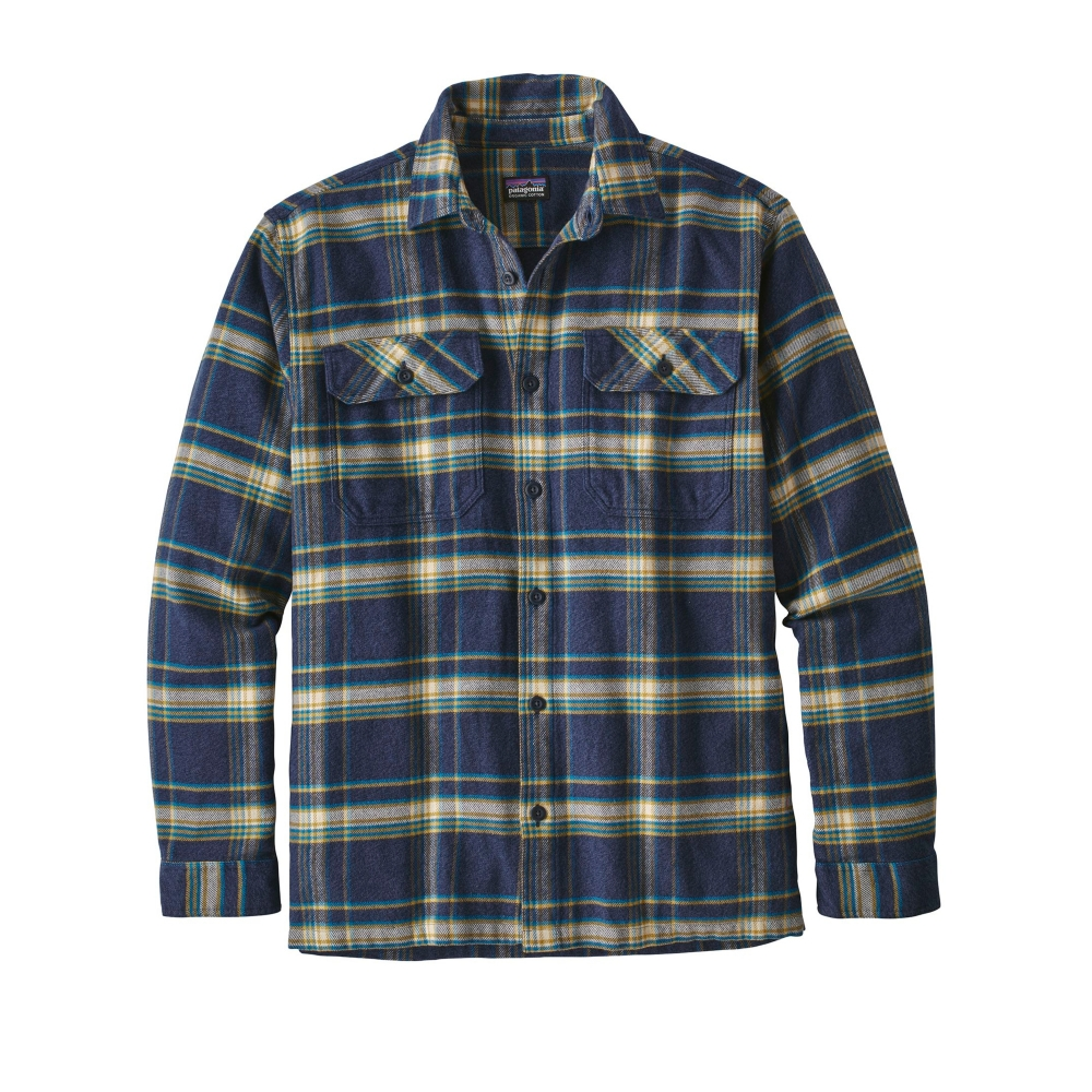 Patagonia Fjord Flannel Long Sleeve Shirt (Activist: Navy Blue)