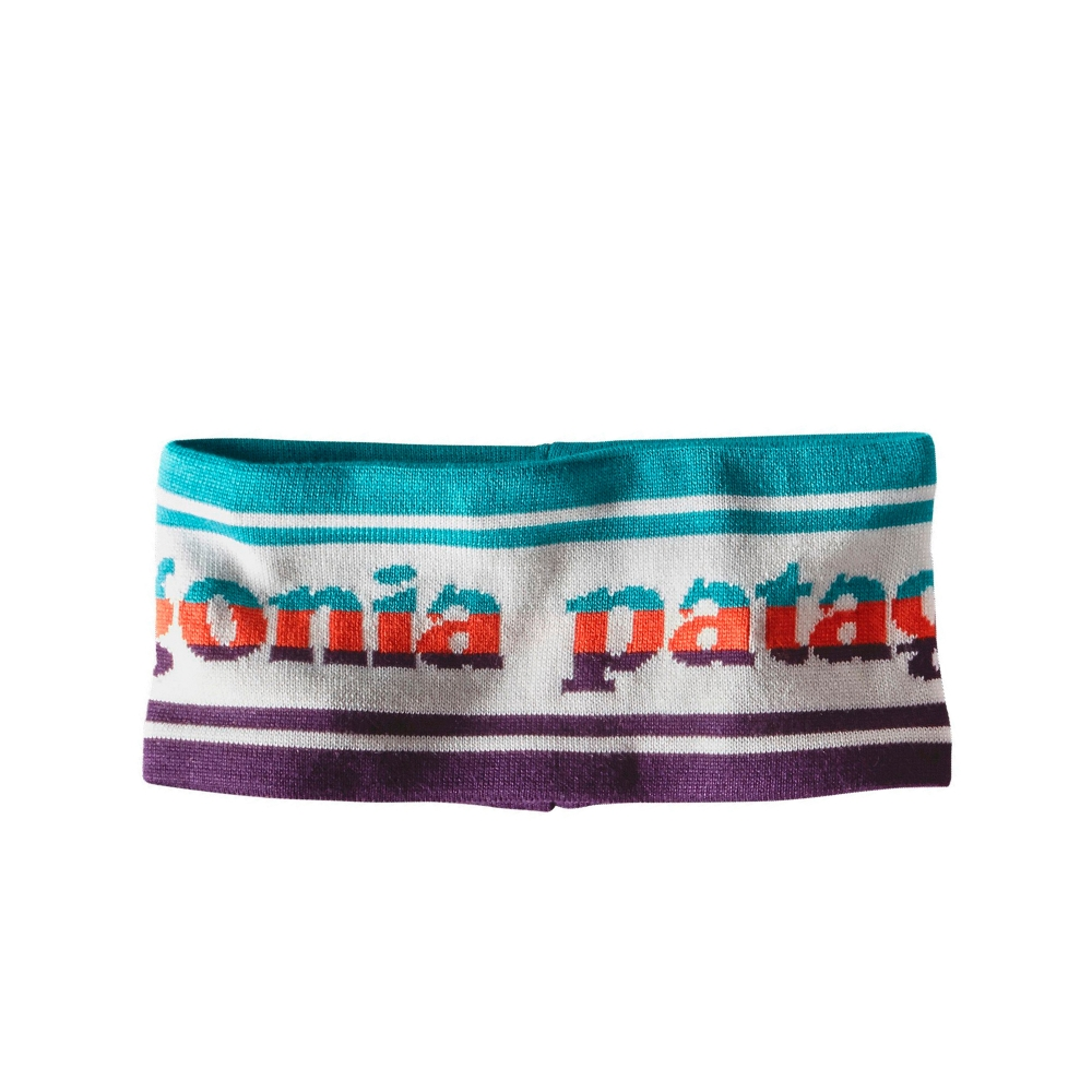 Patagonia Lined Knit Headband (Park Stripe Band: Birch White)