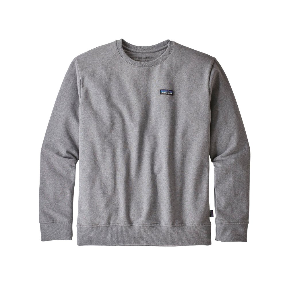 Patagonia P-6 Label Uprisal Crew Neck Sweatshirt (Gravel Heather)