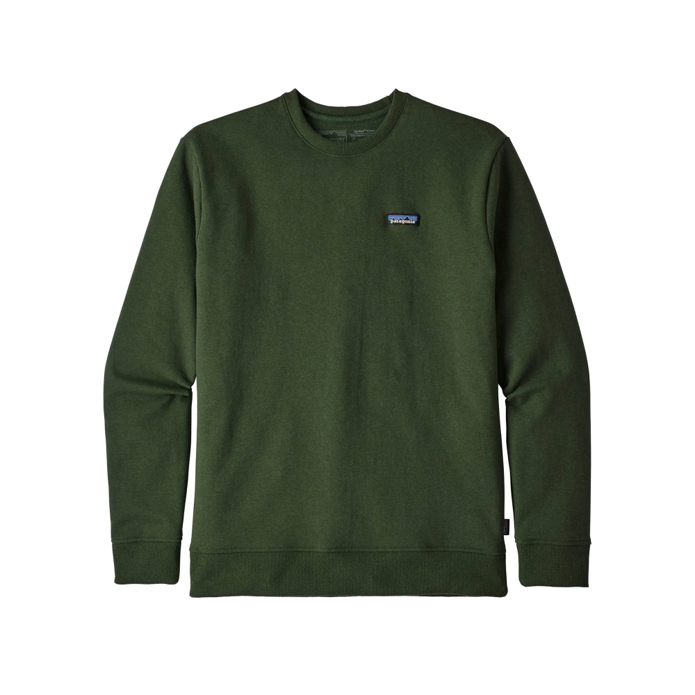 Patagonia P-6 Label Uprisal Crew Neck Sweatshirt (Nomad Green)