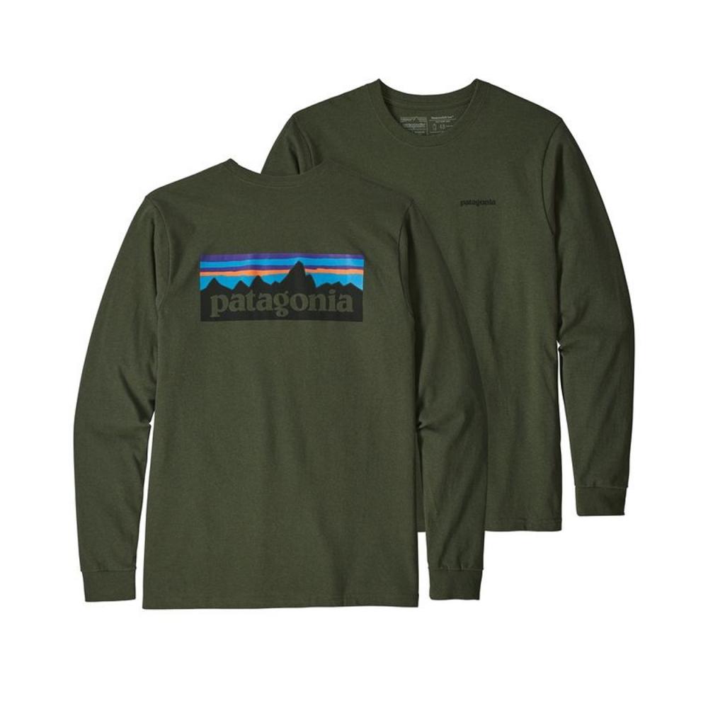 Patagonia P-6 Logo Responsibili-Tee Long Sleeve T-Shirt (Nomad Green)