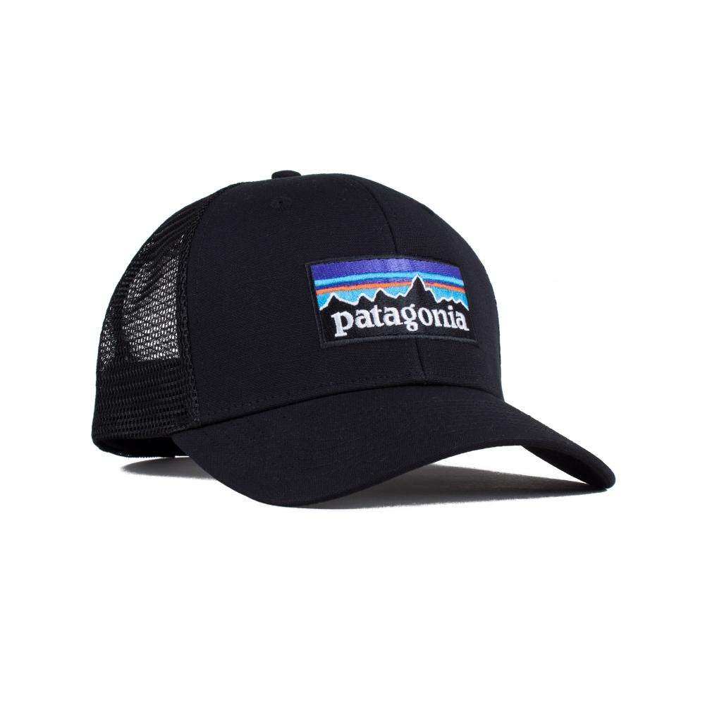 Patagonia P-6 Logo Trucker Cap (Black)