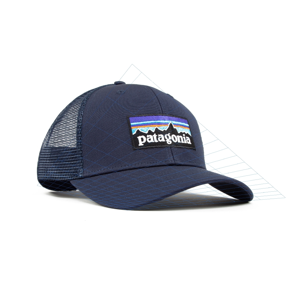 Patagonia P-6 Logo Trucker Cap (Navy Blue w/Navy Blue)