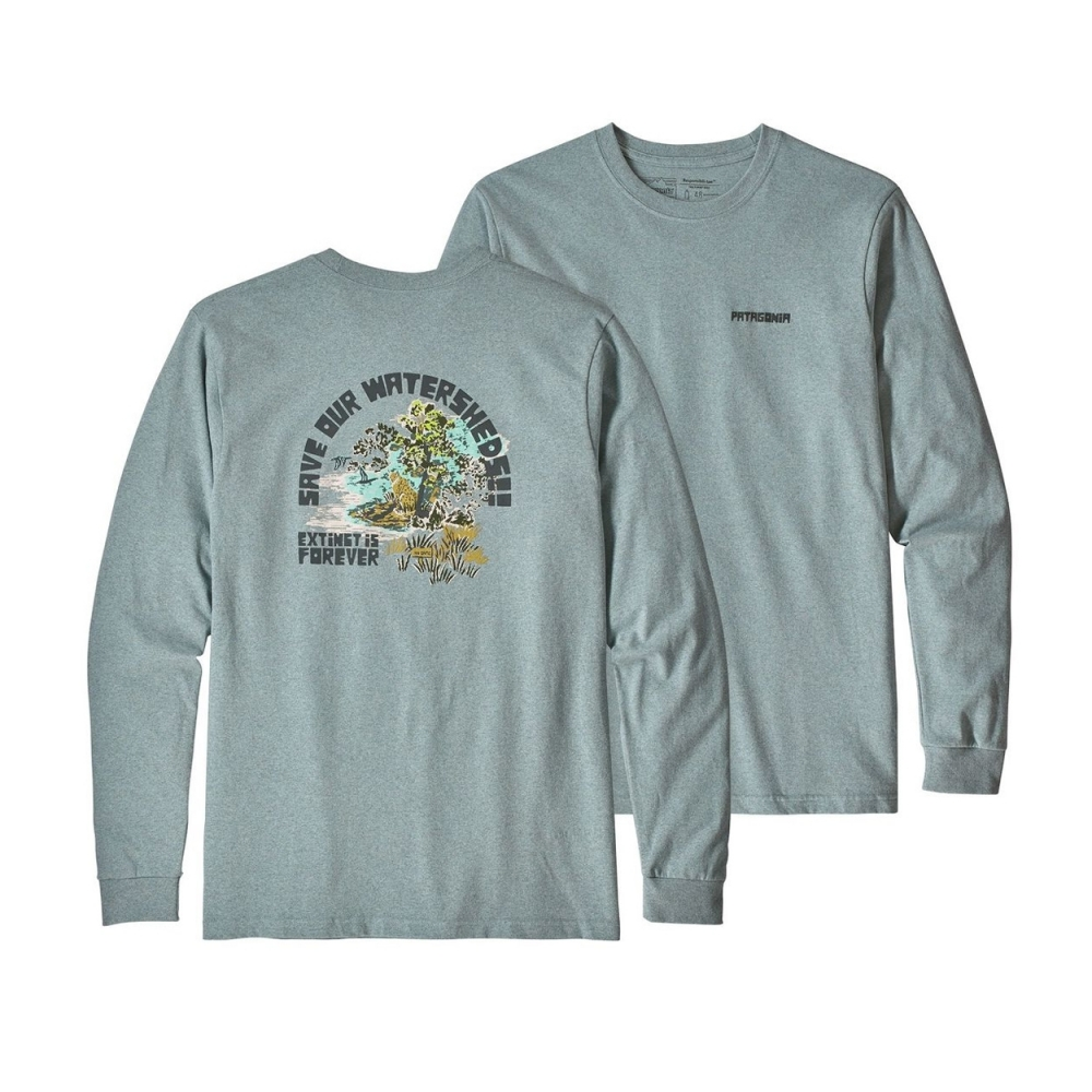 Patagonia Save Our Watersheds Responsibili-Tee Long Sleeve T-Shirt (Cadet Blue)