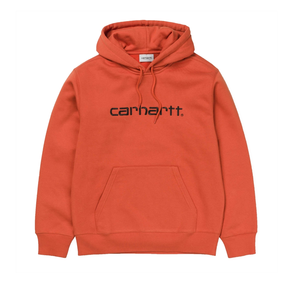 Carhartt Pullover Hooded Sweatshirt (Persimmon/Black)