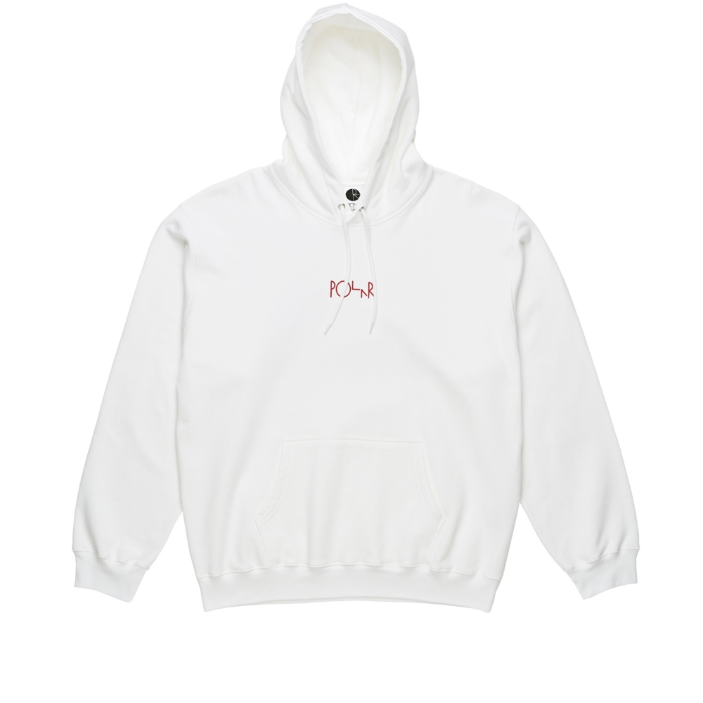 Polar Skate Co. Fountain Pullover Hooded Sweatshirt (White)