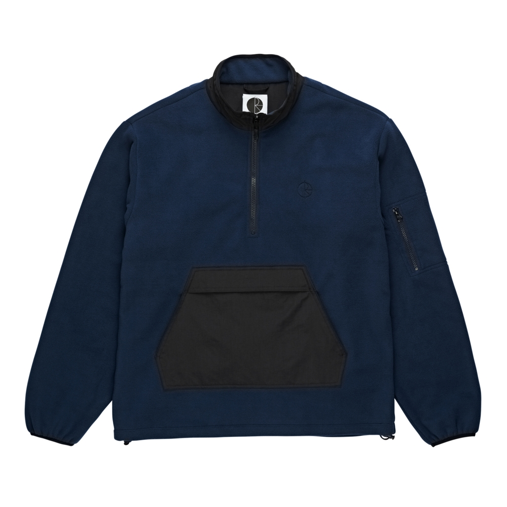 Polar Skate Co. Gonzalez Fleece Jacket (Black/Obsidian Blue)