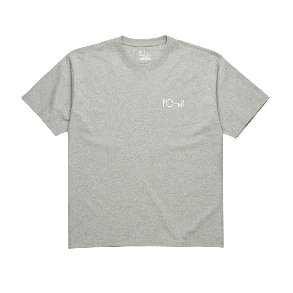 Polar Skate Co. Script Logo T-Shirt (Heather Grey)