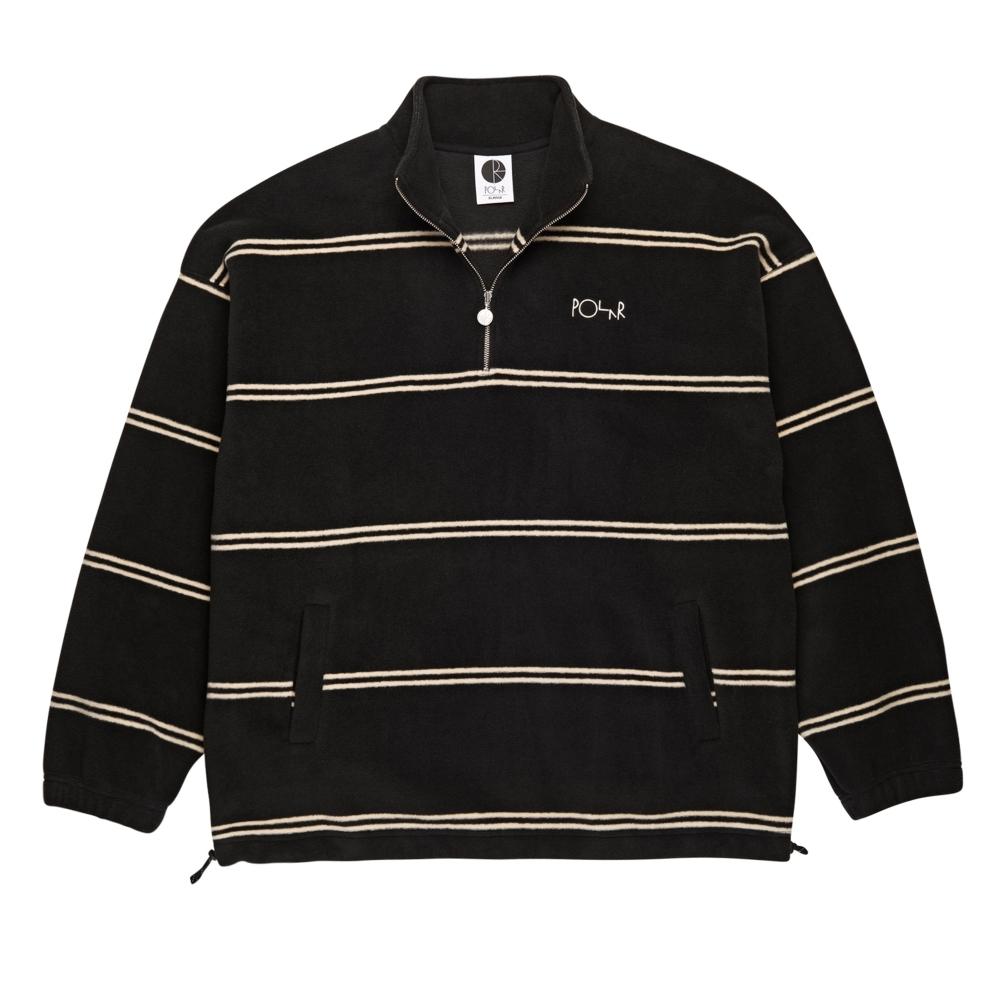 Polar Skate Co. Striped Fleece Pullover (Black)
