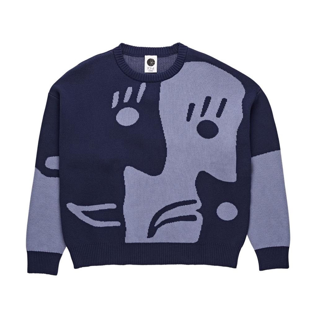 Polar Skate Co. Art Knit Sweater (Dark Blue/Dusty Blue)
