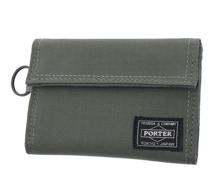 Porter Type B Cube Wallet (Khaki)
