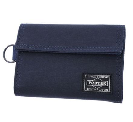 Porter Type B Cube Wallet (Navy)