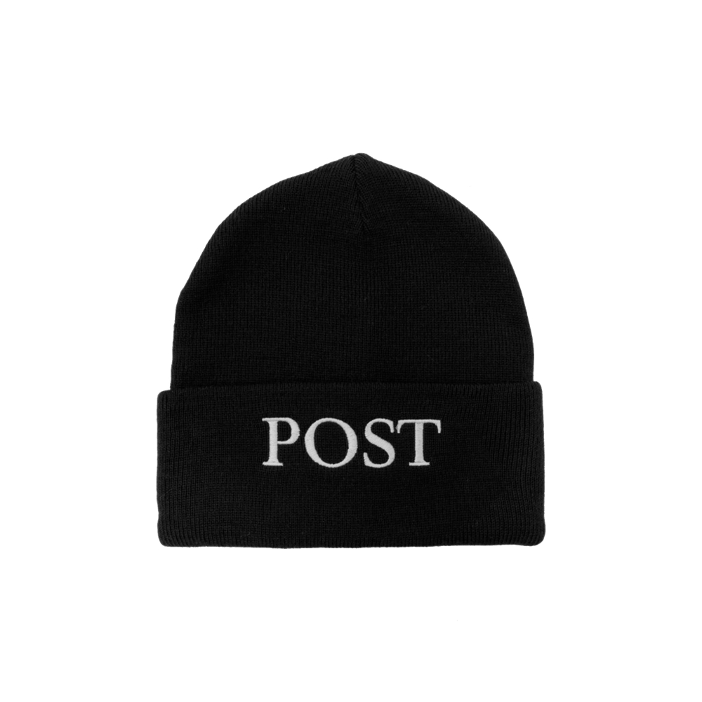 Post Details Big Logo Beanie (Black)