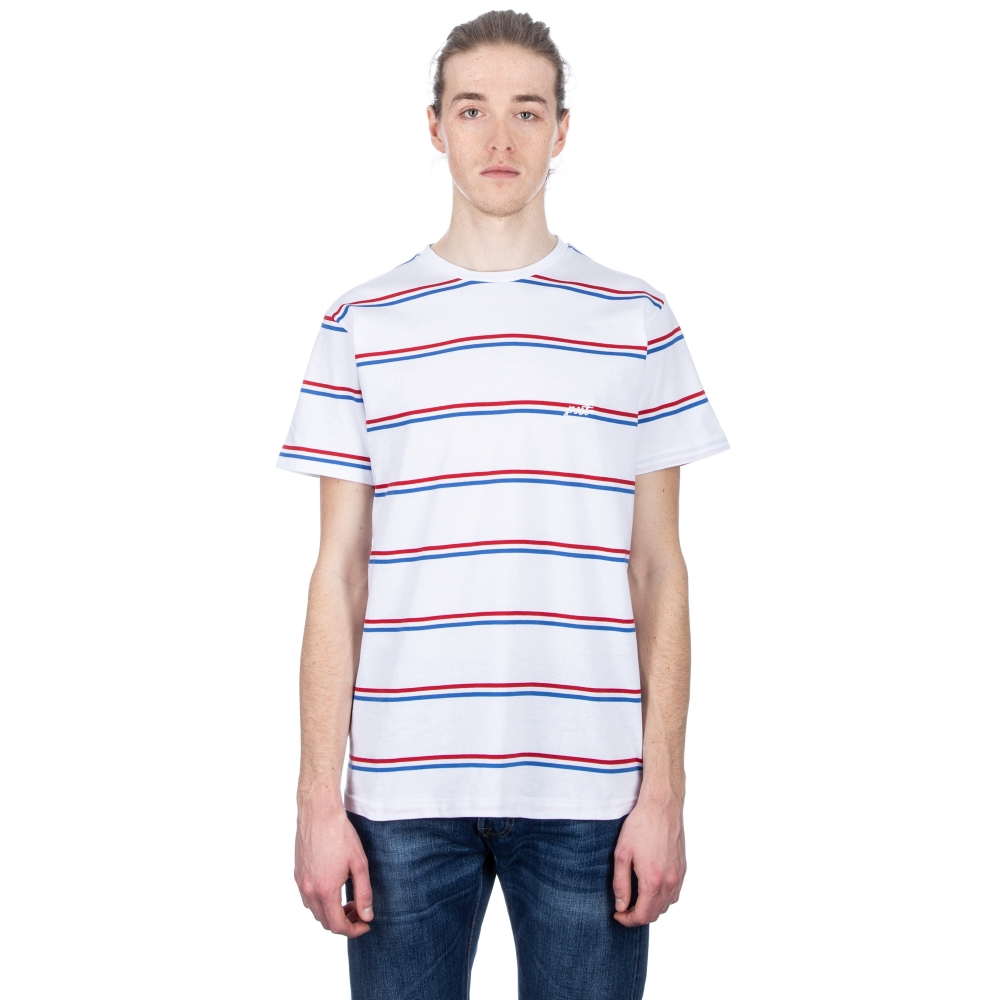 Post Details Shuffleboard Striped T-Shirt (White)