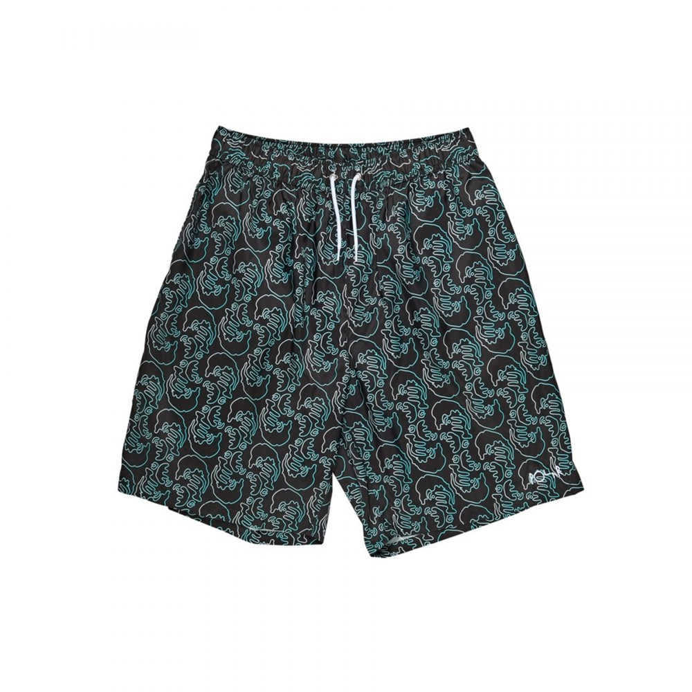 Polar Skate Co. Art Swim Shorts (Black)