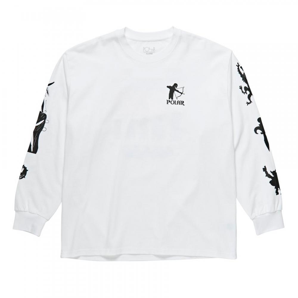 Polar Skate Co. Gnarhammer Long Sleeve T-Shirt (White)