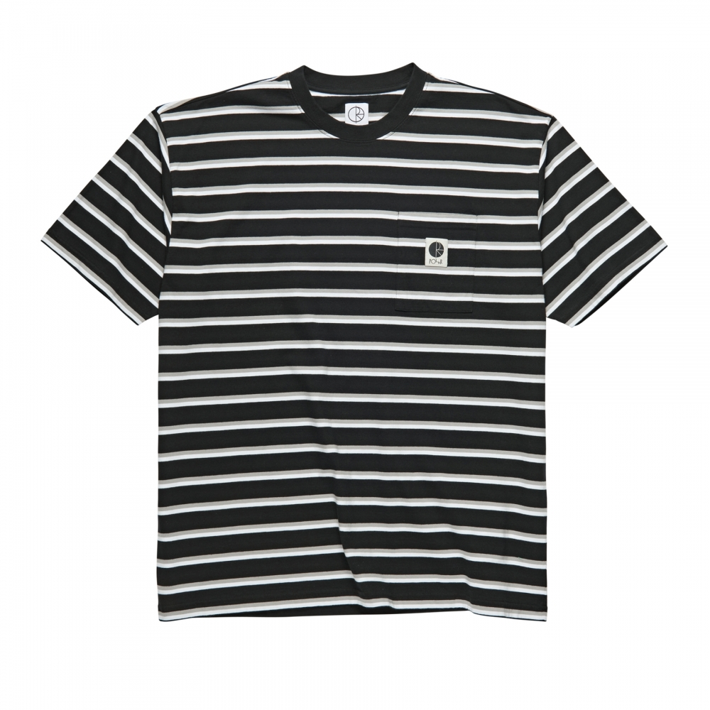 Polar Skate Co. Stripe Pocket T-Shirt (Black)