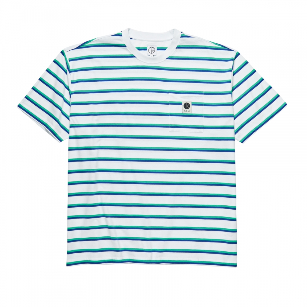 Polar Skate Co. Stripe Pocket T-Shirt (White)