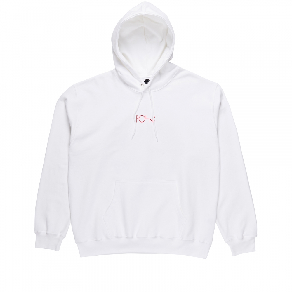 Polar Skate Co. TK Fill Logo Pullover Hooded Sweatshirt (White)