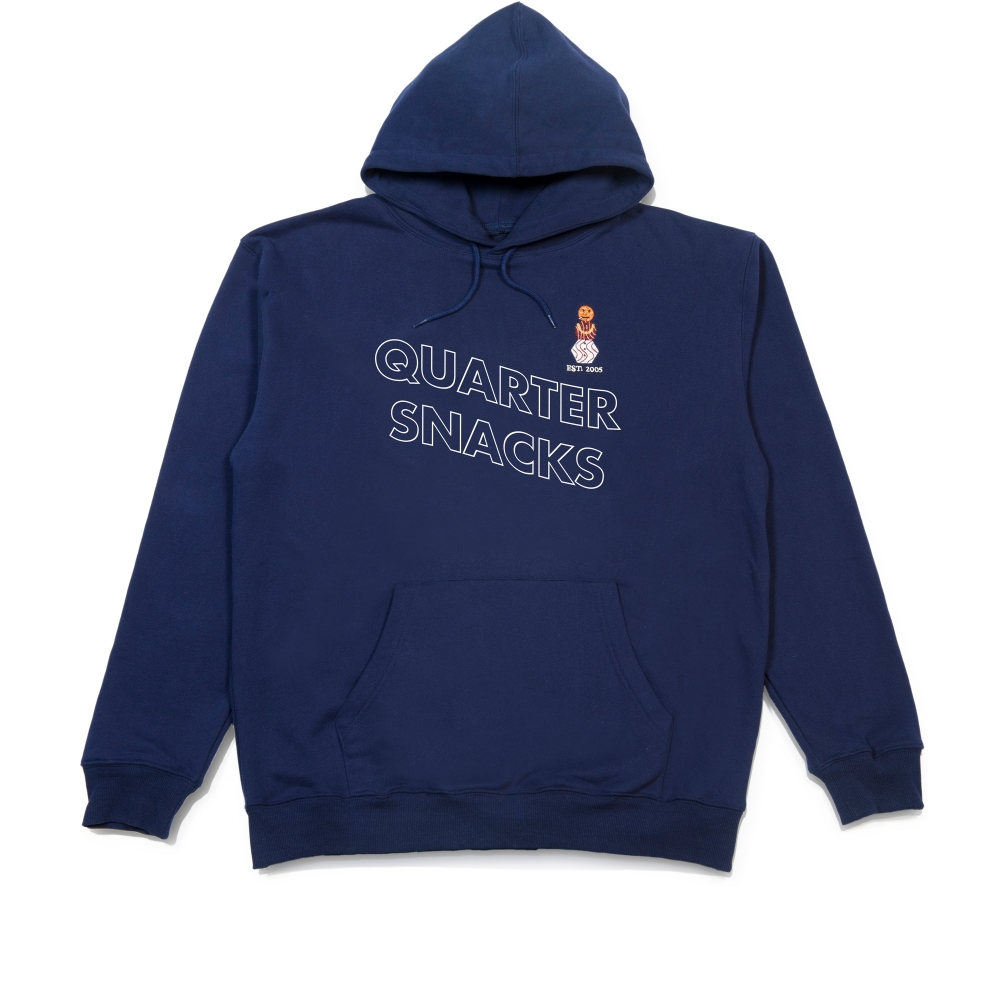 Quartersnacks Snackman Pullover Hooded Sweatshirt (Navy)