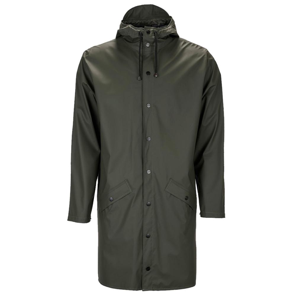 Rains Long Rain Jacket (Green)