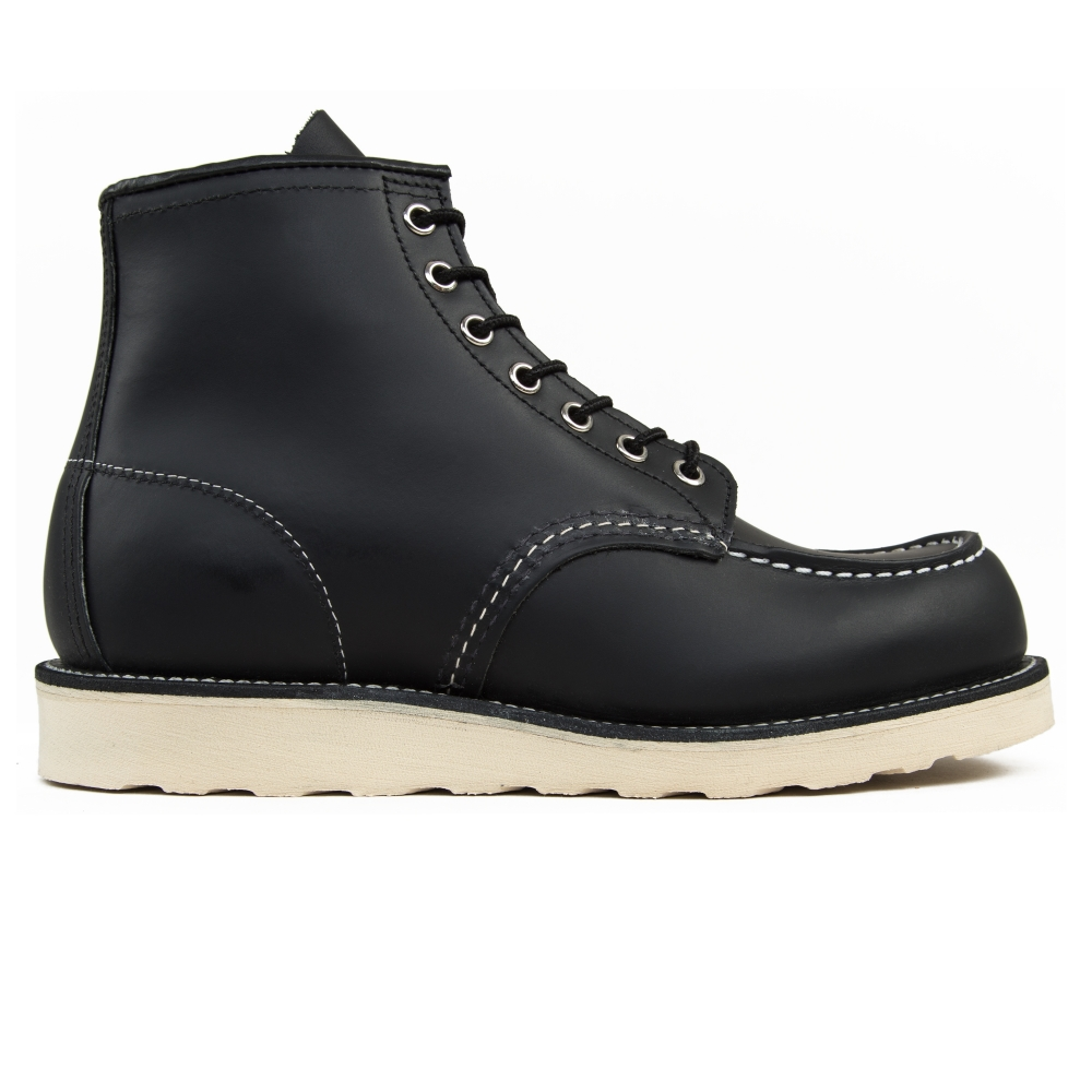 "Red Wing 8130 Classic Moc Toe 6"" Boots (Black Chrome Leather)"