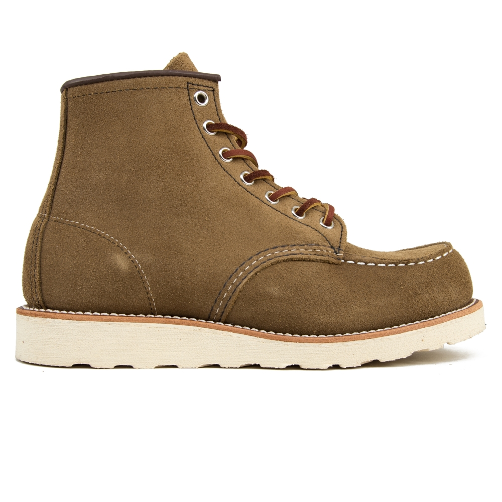 """Red Wing 8881 Classic Moc Toe 6"""" Boots (Olive Mohave Leather)"""