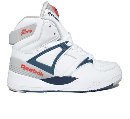 Reebok The Pump White/Royal/Sheer/Orange - Basketball Shoes