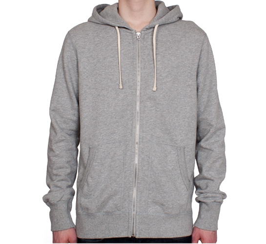 Reigning Champ Zip Hood (Heather Grey)