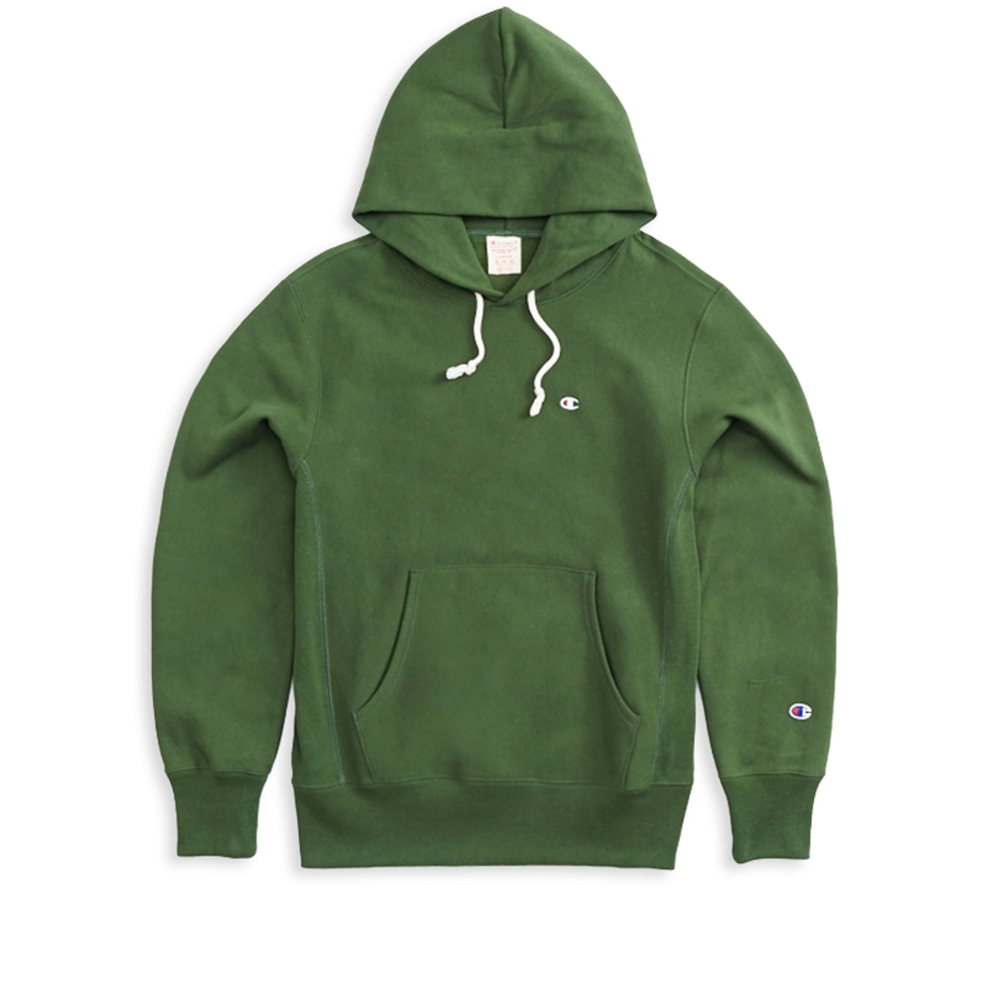 Champion Reverse Weave Pullover Hooded Sweatshirt (Forest Green)