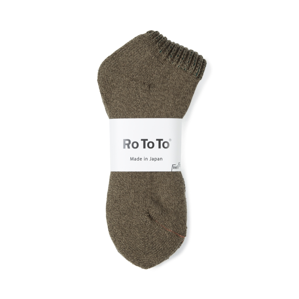 RoToTo Loose Pile Socks (Dark Green)