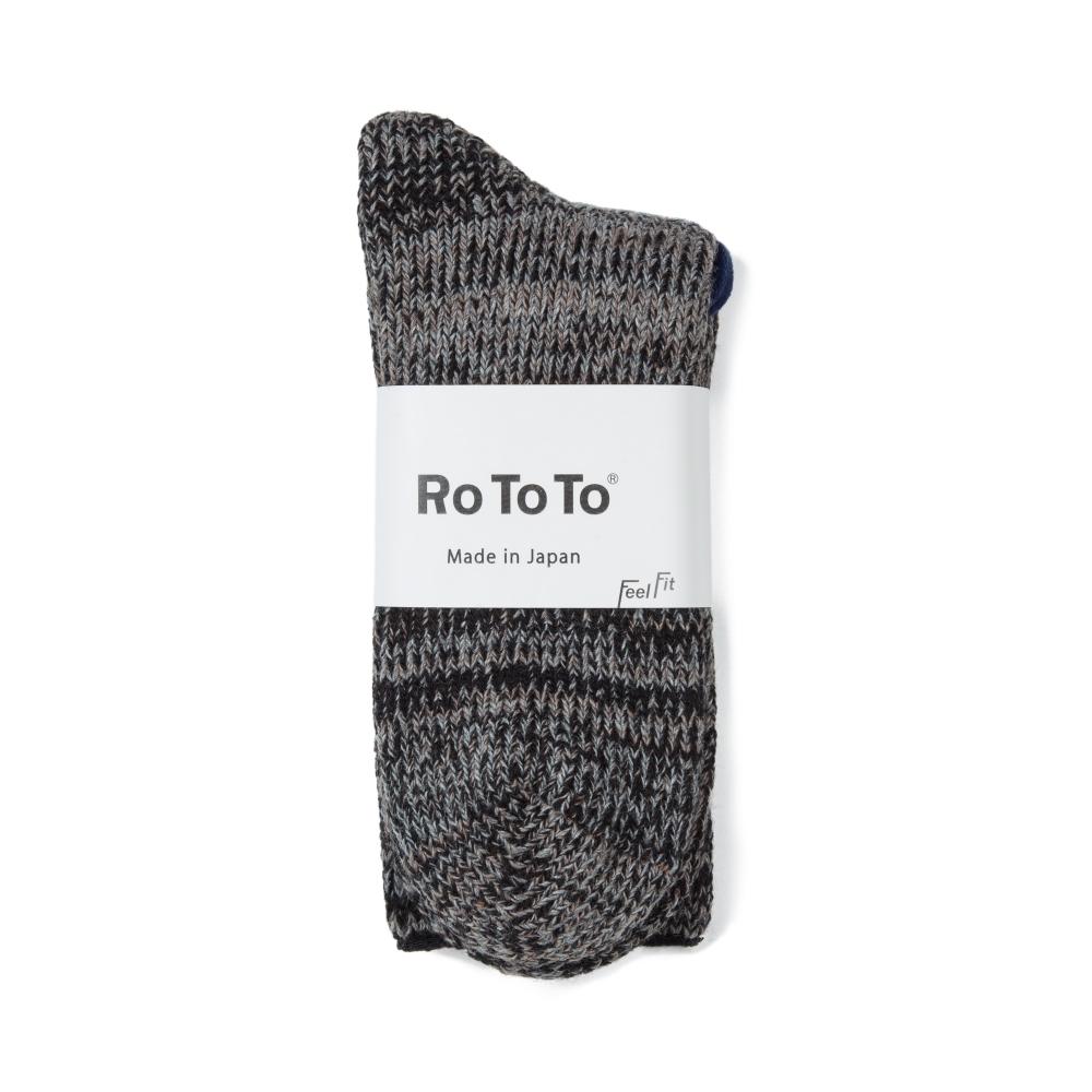 RoToTo Outlast Teasel Socks (Black Mocha)