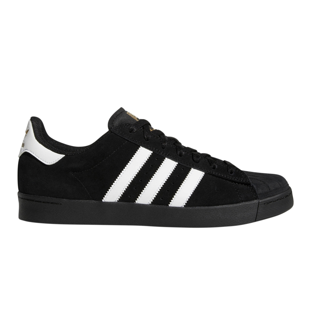 adidas Skateboarding Superstar Vulc ADV (Core Black/Footwear White/Gold Metallic)