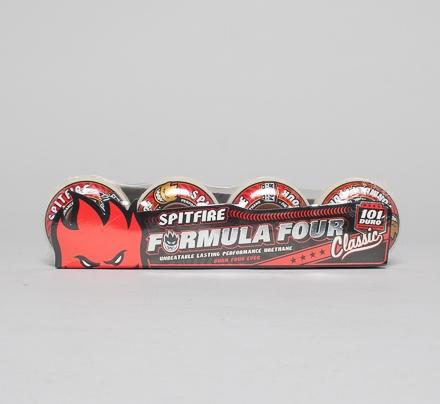 Spitfire Formula Four Classic 101DU Skateboard Wheels 50mm (Natural)